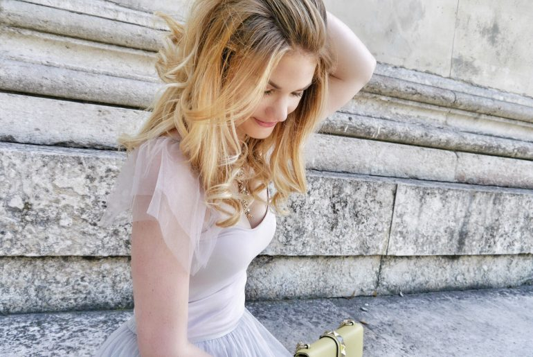 Valentino Rockstud, Zara Tuellrock, Statementkette, Pastellfarben, Trend