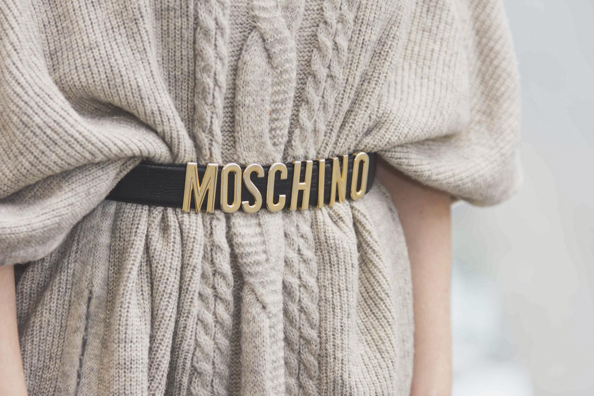 Poncho, Zopfmuster, Moschino, Ledergürtel, Blogger, bloggen, Muenchen, Munich