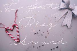 Weihnachten, Liebster Blog Award, Zuckerstange, Schleife, Glitzer, Sternchen