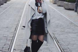 Pineapples ans Pumps, Fashion Blog, Fashion Blogger, Muenchen, Munich, Overknees, Zara, DKNY, L'Oréal, Colorista, Pastellhair, Hairstyle, Statementsweater, Fashion Challenge, Sweater, Mickey Mouse, Mantel, Coat, Grau, YSL, Minirock, Yves Saint Laurent, Netzstruempfe, Fishnet Tights, Chain, Wollmantel, Pallietten, Cossbody, Tasche, Schwarz, Gold, Disney, Who is Mocca