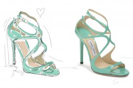 Jimmy Choo Lance, Pumps of the Month, Pineapples and Pumps, Illustration, High Heels, Blog, Fashionblog, Modeblog, Blogger