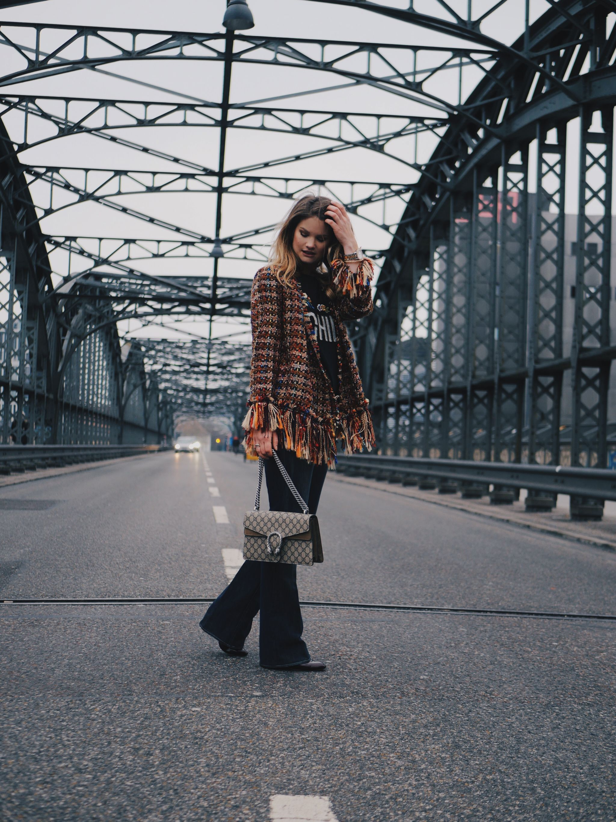 Modern Boho Chic – Coloured Fringe Jacket meets Gucci Dionysus